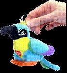 Mini Insulting Parrot Key Chain