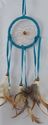 "3"" Dream Catcher with Tan Beads"