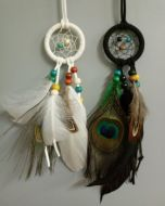 """2"""" Dream Catcher with Peacock Feathers"""