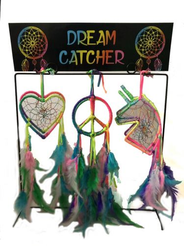 72 pc Tie Dye Dream Catcher w/Stand