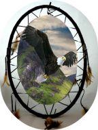 Oval Eagle Mandala Dream Catcher (6 Assorted)