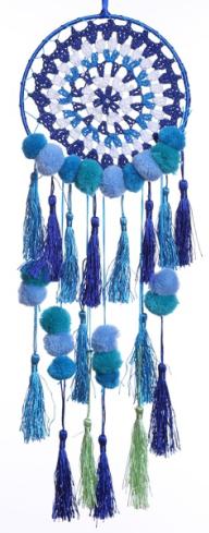 """6"""" Blue Woven Dream Catcher"""