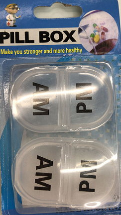 2 pc AM/PM Pill Holder