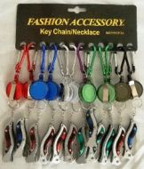 Retractable Color Key Chain with Knife