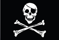 "3 x 5 Flag ""Jolly Roger"""