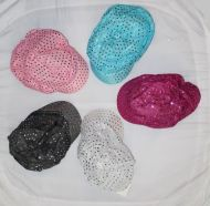 Youth Newsboy Hat with Small Sequins