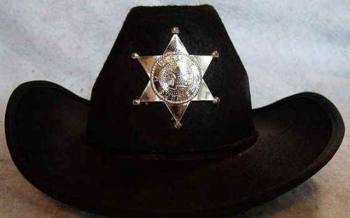 Youth Sheriff Hat Black