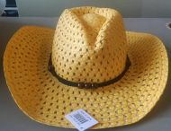 Youth Mesh Cowboy Hat Yellow
