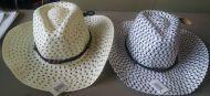 Youth Mesh Cowboy Hat White/Checker
