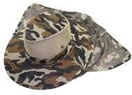 Camo Safari Hat with Neck Veil 62 cm