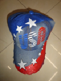 Stars w/USA Painted Baseball Cap