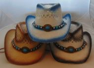 Youth Spray Painted Cowboy Hat