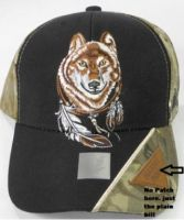"Baseball Cap ""Wolf with Feathers"""