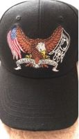 "Baseball Cap ""USA & POW Flag with Eagle"""
