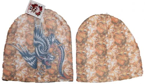 Tattoo Stocking Cap (Winged Panther)