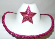 Cowgirl Hat with Sequin Star