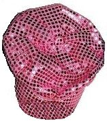 Large Sequin Newsboy Cap (Pink Only)