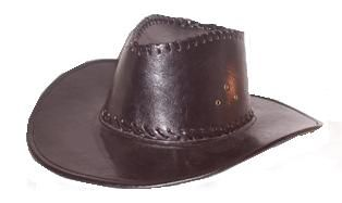 Shiny Cowboy Hat Black