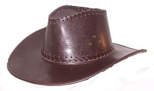 Shiny Cowboy Hat Brown