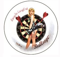 "12"" Round Metal Sign ""Bullseye"""