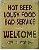 "12 x 15 Metal Sign ""Hot Beer"""