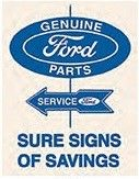 """12 x 15 Metal Sign """"Ford Parts"""""""