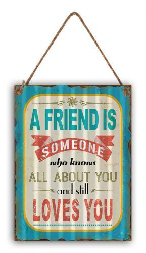 "12 x 16 Wavy Metal Sign ""A Friend Is"""