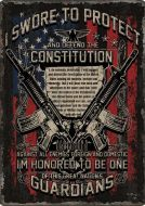 "12 x 17 Metal Sign ""Guardians of the Constitution"""