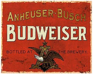 "12 x 15 Metal Sign ""Budweiser Vintage"""