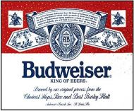 "12 x 15 Metal Sign ""Budweiser"""
