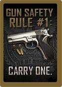 "12 x 17 Metal Sign ""Gun Safety Rule #1"""