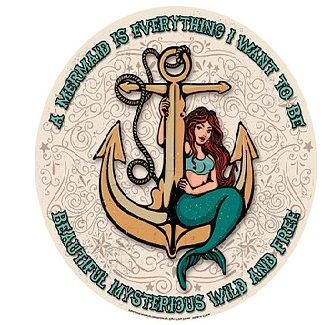 "12"" Round Metal Sign ""Mermaid"""