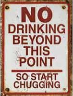 "12 x 15 Metal Sign ""No Drinking Beyond Point"""