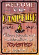 "12 x 17 Metal Sign ""Campfire"""