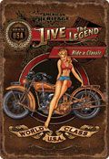 "12 x 17 Metal Sign ""Live the Legend-Motorcycle"""