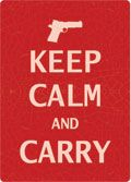 "12 x 17 Metal Sign ""Keep Calm & Carry"""