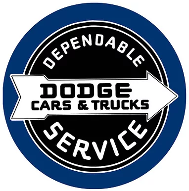 "15"" Dome Sign ""Dodge"""