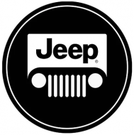 "15"" Dome Sign ""Jeep Black"""