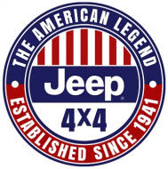 "15"" Dome Sign ""Jeep American Legend"""