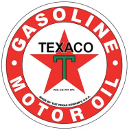 "15"" Dome Sign ""Texaco"""