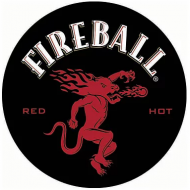 "15"" Dome Sign ""Fireball Black"""