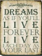 "12 x 16 Metal Sign ""Dreams Live Forever"""