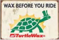 "12x15 Sign ""Turtle Wax"""
