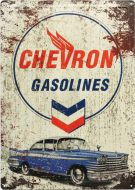 "12x17 Metal Sign ""Chevron Gasoline"""