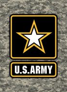 "12x17 Metal Sign ""Army Star"""