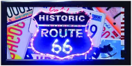 "LED Lights Sign ""Route 66 Plates"""