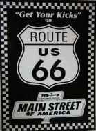 "12 x 15 Metal Sign ""Route 66 Main St"""