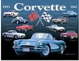 """12 x 15 Metal Sign """"Chevy Corvette Collage"""""""