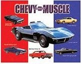 """12 x 15 Metal Sign """"Chevy Muscle Car"""""""
