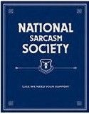 "12 x 15 Metal Sign ""National Sarcasm"""